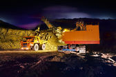 Big yellow mining truck — Stock Photo