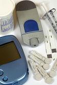 Diabetes self-test kit — Stock Photo