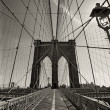 Brooklyn Bridge in New York city - Foto de Stock