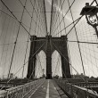 Brooklyn Bridge in New York city - 图库照片