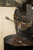Coffee roaster cooling — Stock Photo