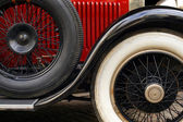 Antique car fender and wheels — Stock Photo