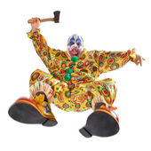 Attack of the evil clown — Stock Photo