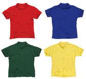 Camisas de polo em branco — Foto Stock
