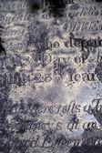 Old epitaph — Stock Photo
