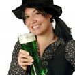 Stock Photo: Drinking on St Patricks Day