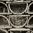 Stock Photo: Old lobster traps