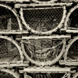 Old lobster traps - Stock Photo