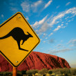 Royalty-Free Stock Photo: Kangaroo Ayers Rock