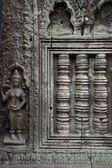 Weathered Cambodian wall — Stock Photo