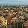 Cityscape of Barcelona - Stok fotoraf