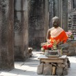 Buddha in Angkor - Stock Photo