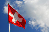 National flag of Switzerland — Stockfoto