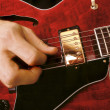 Electric guitar playing - Stock Photo