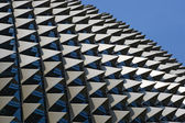 The roof of the Esplanade theatre in Singapore. Designed to resemble the durian fruit. — Stock Photo