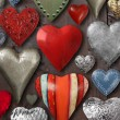 Heart shaped metal things — Foto Stock