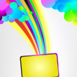 Background with rainbow — Stock Vector