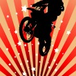 Moto cross rider, with spatters — Imagen vectorial
