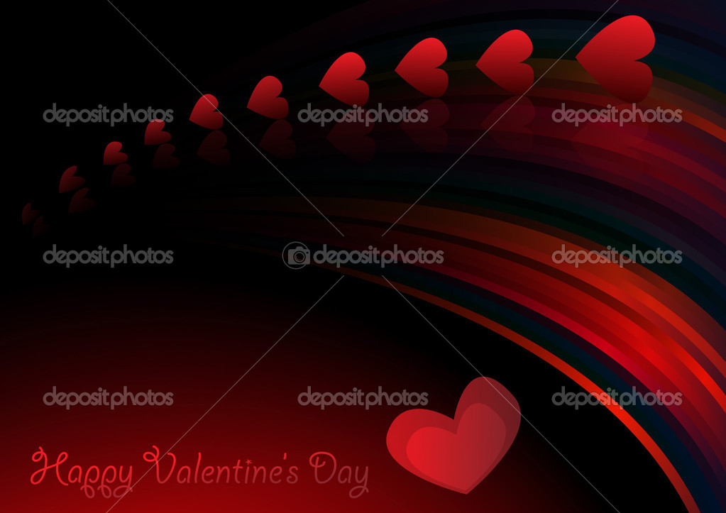 Valentines vector background. Clip-art — Stock Vector #4818027