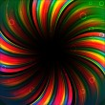 Colorful rainbow birthday banner — Stock Vector