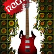 Royalty-Free Stock Vector Image: Music background with rock guitar