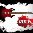 Vector rock guitar background — Stock Vector #5205181