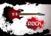 Vector rock guitar background — Cтоковый вектор