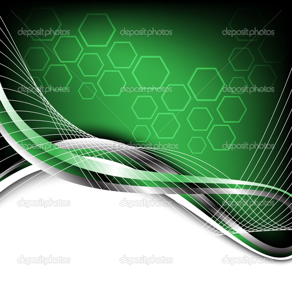 Hi tech green background stock illustration