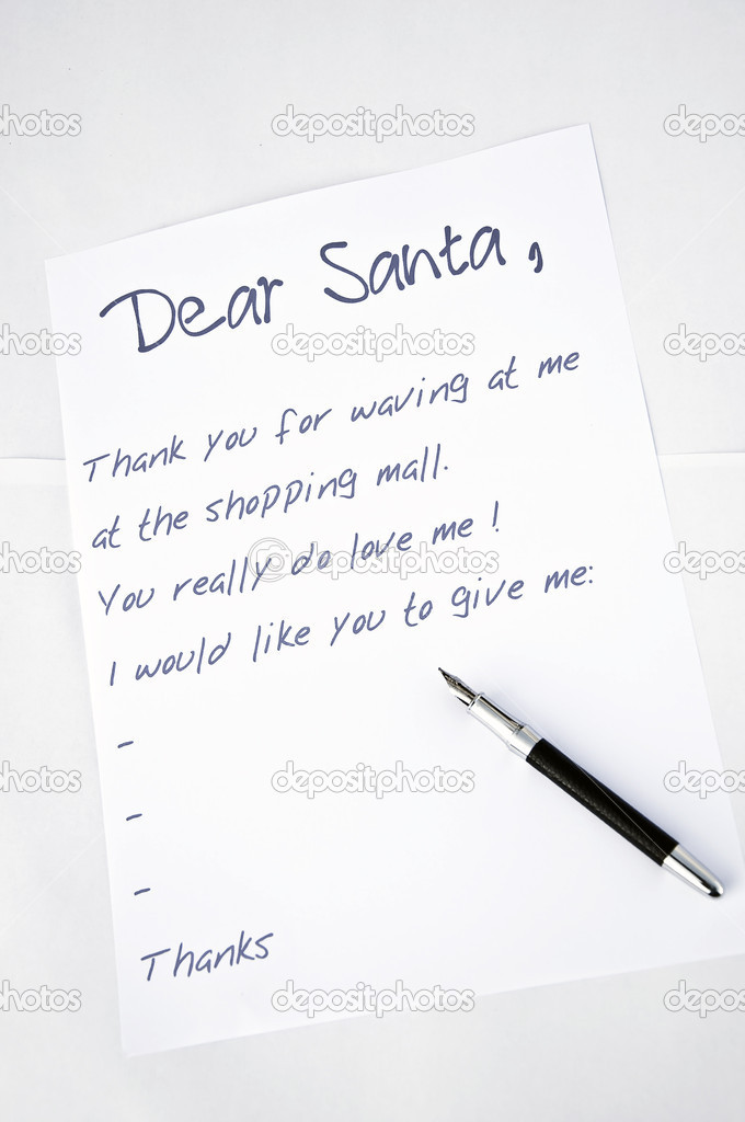 Dear Santa letter — Stock Photo © fuzzbones #4404931
