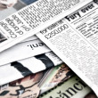 Bunch of newspapers — Stock Photo