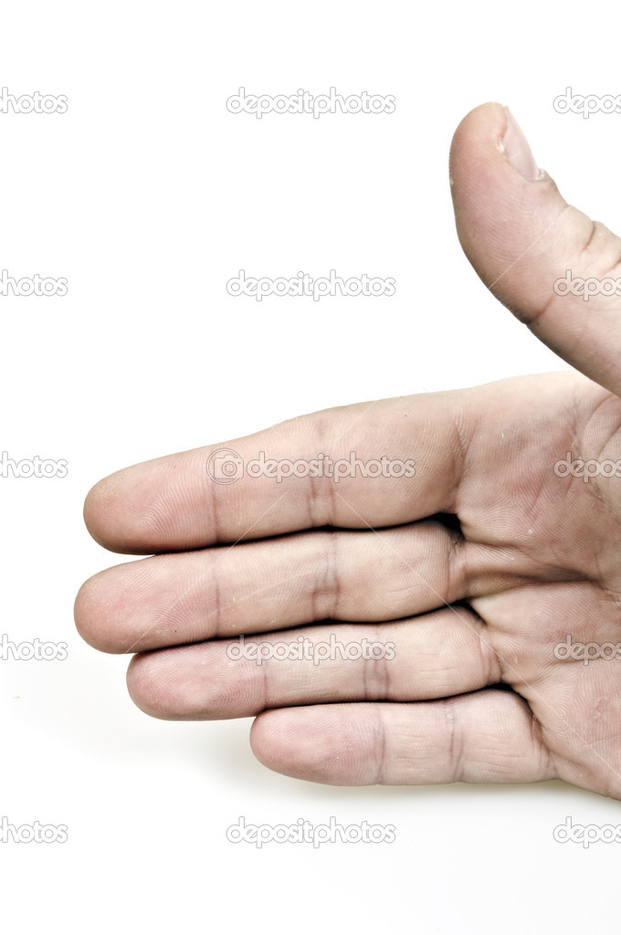 Isolated male hand on white background — Stock Photo #4807976