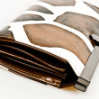 Leather wallet - Foto Stock