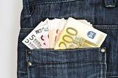 Banconote in euro — Foto Stock