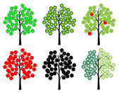 Drawings of Trees — Stock Photo
