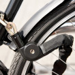 Stock Photo: Locked bike