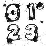 Ink alphabet — Stock Photo #4368268