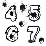 Ink alphabet — Stock Photo #4368269