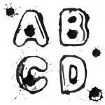 Ink alphabet — Stock Photo #4368273