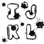 Ink alphabet — Stock Photo #4368276