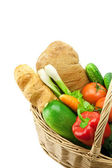 Bread and fresh vegetables — Stock Photo