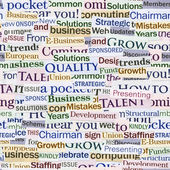 Seamless background, made of newspaper clippings. Business theme. — Stock Photo