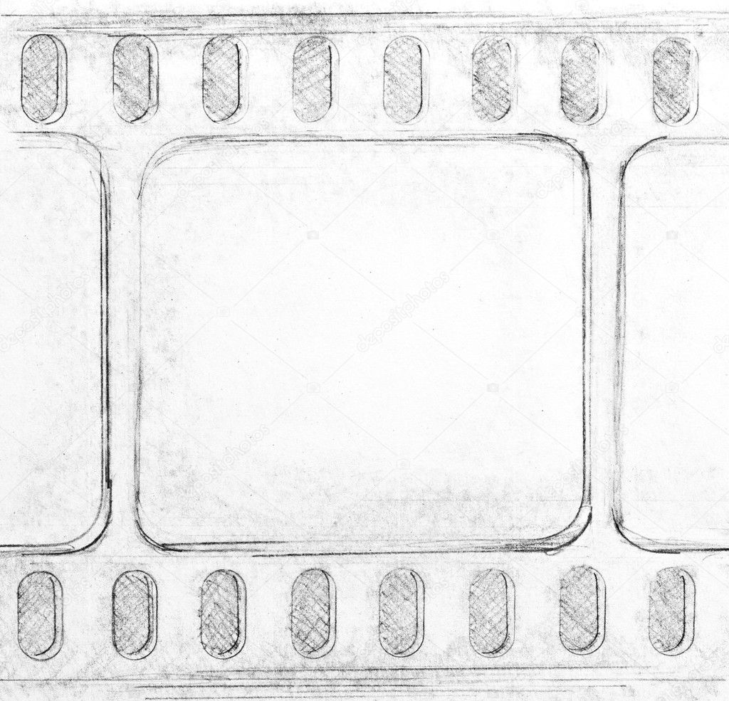 Film strip sketch on paper — Stock Photo #4367013