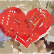 Heart collage — Stock Photo