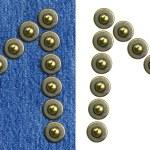 alfabeto de los pantalones vaqueros — Foto de Stock   #4670357