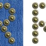Джинсы алфавит — Стоковое фото