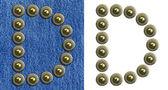 Jeans alphabet — Stock Photo