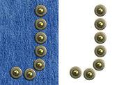 Jeans alfabetet — Stockfoto