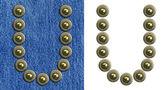 Jeans alfabet — Stockfoto