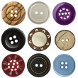 Stock Photo: Sewing buttons