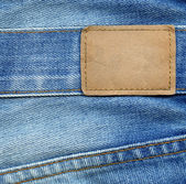Blank jeans label — Stock Photo